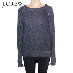 J. Crew Zip- SideSweatshirt heathered charcoal - M